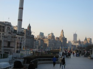 The Bund in Shanghai...doesn't really look Chinese but it is...really!