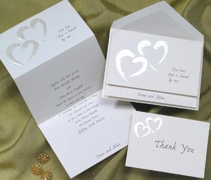 Regency rainbow wedding invitations